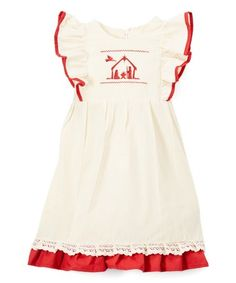 Look what I found on #zulily! Red Cottage Pinafore Dress #zulilyfinds