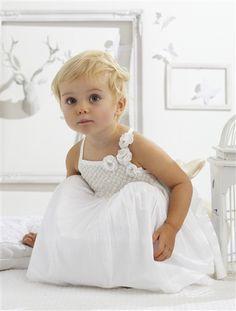 Robe et bloomer en voile bébé fille BLANC - vertbaudet enfant