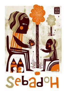 Sebadoh gig poster.