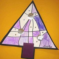 Sapin de Noël en graphisme