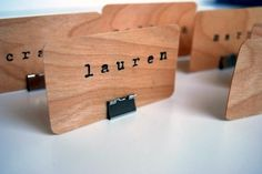 Stamped Birch, bulldog clips - place setting