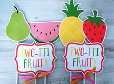Two-tti Fruity Centerpiece Sticks Tropical by ConfettiPartyCompany