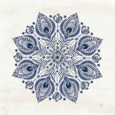 Framed Bohemian Vibes VI Mandala Blue Print Pattern Art, Color Trends, New Art, Custom Framing, Bohemian Style, Framed Art, Color Schemes, Mandala, June