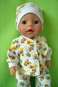 выкройка для куклы беби борн, беби борн, выкройка одежды для куклы