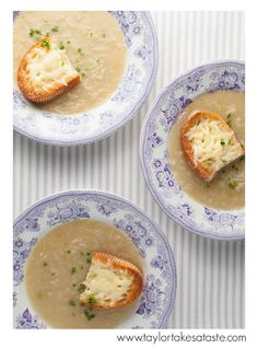 Golden Onion Soup with Jarlsberg Toasts