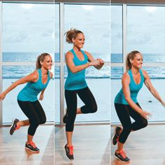 This this at-home plyometric workout routine requires zero equipment and burns mega calories. Try the plyometric workout moves for a nice mix of strength and cardio. Plyo Workouts, Plyometric Workout, Killer Workouts, Plyometrics, Workout Exercises, Lean Thighs, Dynamic Warm Up, Post Baby Body