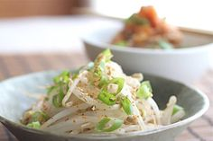 """Korean Bean Sprout Salad """"Banchan"""" ~ http://jeanetteshealthyliving.com"""