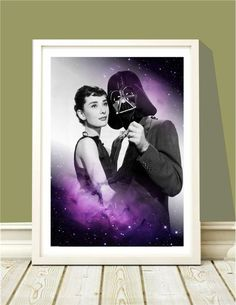 Poster Audrey & Darth Dance in Universe - Hey You - A4 - R$ 25