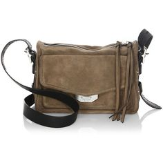 Rag & Bone Bamby Suede Crossbody Bag ($495) ❤ liked on Polyvore featuring bags, handbags, shoulder bags, brown suede purse, handbags shoulder bags, suede handbags, hand bags and brown suede handbag