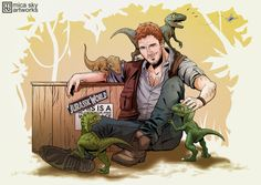 jurassic world owen and raptors - Google Search