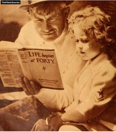 Will Rogers reads to Shirley Temple. thefilmlibrarian: Will Rodgers reads to Shirley Temple~Our Library They spelled Ends wrong didn't they, Vulpecula?