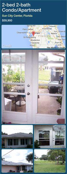 2-bed 2-bath Condo/Apartment in Sun City Center, Florida ►$59,900 #PropertyForSaleFlorida http://florida-magic.com/properties/25935-condo-apartment-for-sale-in-sun-city-center-florida-with-2-bedroom-2-bathroom