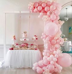 #partyideas #pink #balloongarland