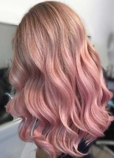 Beautiful Rose Gold Hair Color Ideas 02