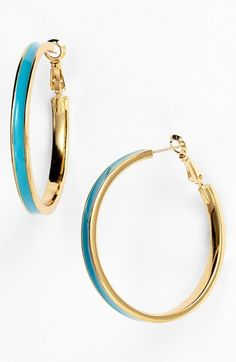 kate spade new york 'bar none' hoop earrings available at #Nordstrom