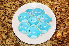Whale Cookies. $24.00, via Etsy.