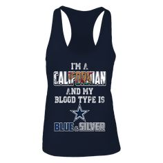 Dallas Cowboys Official Apparel - this licensed gear is the perfect clothing for fans. Dallas Cowboys Outfits, Dallas Cowboys Football, Fan Shirts, Blue And Silver, Athletic Tank Tops, Blood, Type, Fans, Collection