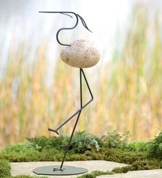 ViewWindweather Fieldstone Heron Garden Art Garden StatuesWindweather Fieldstone Heron Garden Art Garden StatuesThe graceful movement of a water bird is captured in this beautiful piece of metal .....