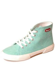 Candy Color Lace-Up Woman Sneakers High-Top