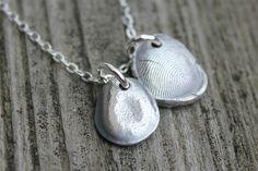Fingerprint Jewelry - sterling silver keepsakes.