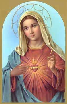 ,The Immaculate Heart of Mary, Blessed are thou.