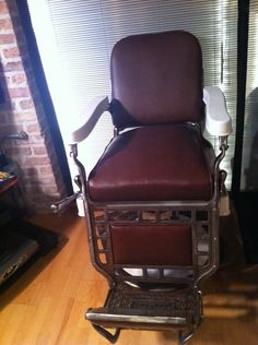5 Vintage/Antique Barber Chairs, circa 1920/30's  —