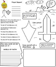 Armor of God Activity Sheet For Kids Wild Card