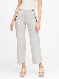 Sailor Pants, Sailor Fashion, Women Empowerment, Wide Leg Pants, Stretch Fabric, Shirt Blouses, Banana Republic, Spring Fashion, Cute Outfits