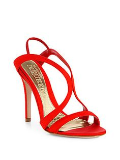Alexander+McQueen Satin+Strappy+Sandals