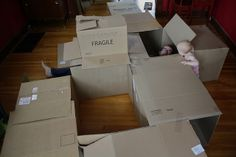 Next time we move, I'm totally doing something like this for Joey DIY cardboard box maze by Emily Lindberg, via Flickr