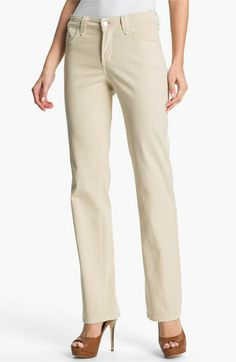 NYDJ 'Hayden' Straight Leg Twill Jeans available at #Nordstrom