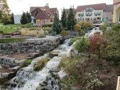 Falls at River Place Shops in Frankenmuth, Michigan