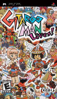 For Gitaroo Man Lives! on the PSP, a box shot for the EU - release on GameFAQs. Video Game Music, Video Games, Power Chord, Super Mario 3d, Game Data, Rhythm Games, Man Games, Little Games, Bus Ride