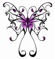 Purple Butterfly Photo: This Photo was uploaded by tipsygreen. Find other Purple Butterfly pictures and photos or upload your own with Photobucket free . Monarch Butterfly Tattoo, Butterfly Logo, Butterfly Drawing, Butterfly Kisses, Lupus Tattoo, Stencils Tatuagem, Tattoo Stencils, Tattoo Fonts, Tattoo Symbols
