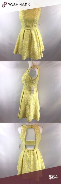 Gianni Bini Yellow Animal Print Dress Medium New Bust measures 15 inches lying flat, length falls 33 inches from the shoulder  # Animal Print Leopard Print Dress Textured Medium Cocktail Dress Graduation Dress Cute Dress Sexy Dress Backless Dress Beautiful Dress New Dress Under $100 $75 Homecoming Dress Christmas Present Christmas Party Dress Gianni Bini Dresses Backless