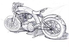 motorcycle concept sketch