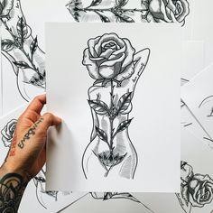 Rose Goddess Print