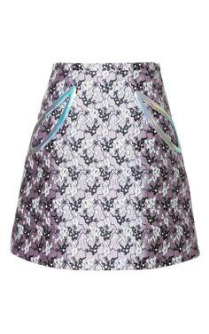 Shop Plasma Petal Pocket Mini A-Line Skirt by Christopher Kane for Preorder on Moda Operandi