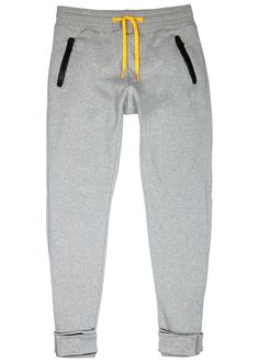 Moncler O grey cotton jersey jogging trousers Elasticated drawstring waist…