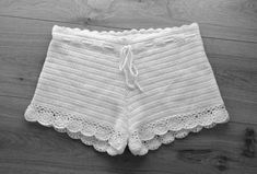 Lacey crochet shorts for summer