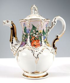 Mochapot, Opulent flower painting, Limited Masterpieces, V 0,60 l