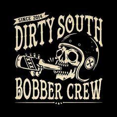 """369 curtidas, 10 comentários - Bobber Cult (@bobbercult) no Instagram: """"Artwork for Dirty South Bobber Crew #bobbercult"""""""