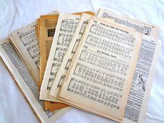 Lot Vintage Book Pages, Ephemera  for Altered Arts, Inspiration Kit, Art Journals, Junk Journals, Smash Books, Collage, Mail Art, Assemblage