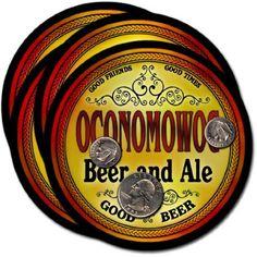 Oconomowoc , WI Beer & Ale Coasters - 4pk by ZuWEE, http://www.amazon.com/dp/B003TAX9JM/ref=cm_sw_r_pi_dp_52ggrb1DHRRFW