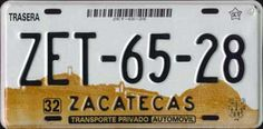 Mexican license plates