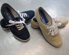 #Keds for everybody! If you're looking for the perfect shoe to just throw on & go, #yourwelcome! For just, $15, you can pick up both of these bad boys & still have money left for all your summer adventures! // Keds: blue, 7.5, $15; tan, 8, $15 //   www.platosclosetbrampton.com