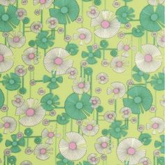 Amy Butler Glow Voile fabric - Wild Flower Zest | 100% cotton fabric on stitchcraftcreate.co.uk