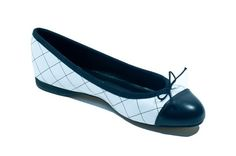 The Charlotte leather quilted ballet flat with a 1.2cm heel.