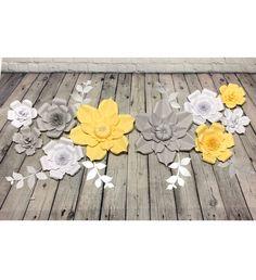 Lovely set of Yellow, Grey, and White paper flowers, with silver twigs! . . #yellowandgrey #babyshoweridea #babyshowergift #babyshowerdecor #babyshowerparty #babyshowerpresent #babyshowergifts #babyshowers #nurserydecor #nurseryinspo #nurseryideas #nurseryroom #nurserydesign #projectnursery #nurserystyle #babynursery #babyshower #babygirl