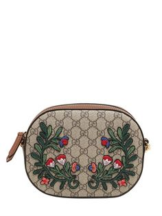 05bd69a34b8 GUCCI FLOWER PATCHES GG SUPREME CAMERA BAG